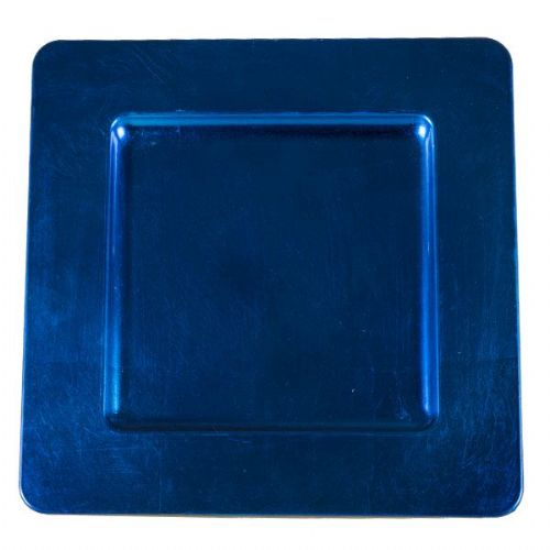 BLUE Square Charger Plate / Underplate